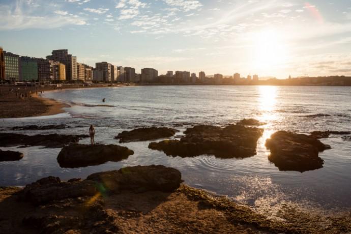 Gijón, arenales seguros