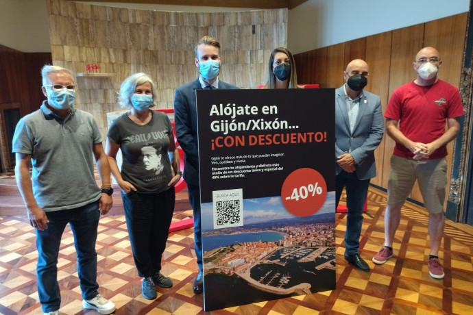 Un 40% de descuento en los alojamientos de Gijón/Xixón este otoño